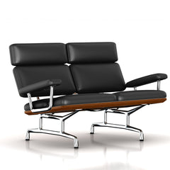 Eames 2-Seat Sofa by Herman Miller Sofa herman miller Walnut Black MCL Leather + $420.00