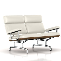 Eames 2-Seat Sofa by Herman Miller Sofa herman miller Teak + $650.00 Pearl White MCL Leather + $420.00