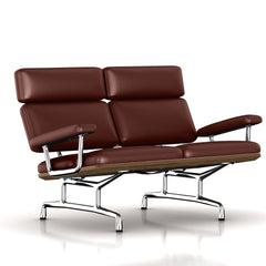 Eames 2-Seat Sofa by Herman Miller Sofa herman miller Teak + $650.00 Brown MCL Leather + $420.00