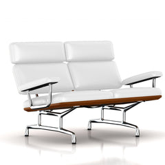 Eames 2-Seat Sofa by Herman Miller Sofa herman miller Walnut Fresh Snow Dream Cow Leather + $1781.00