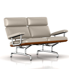 Eames 2-Seat Sofa by Herman Miller Sofa herman miller Walnut Gray Suit Dream Cow Leather + $1781.00