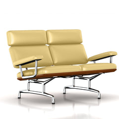 Eames 2-Seat Sofa by Herman Miller Sofa herman miller Walnut Chamois Dream Cow Leather + $1781.00