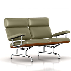 Eames 2-Seat Sofa by Herman Miller Sofa herman miller Walnut Soft Green Dream Cow Leather + $1781.00