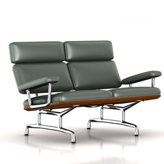 Eames 2-Seat Sofa by Herman Miller Sofa herman miller Walnut Deep Green Dream Cow Leather + $1781.00