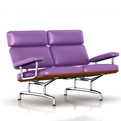 Eames 2-Seat Sofa by Herman Miller Sofa herman miller Walnut Purple Shadow Dream Leather + $1781.00