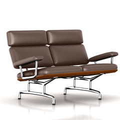 Eames 2-Seat Sofa by Herman Miller Sofa herman miller Walnut Brownie Dream Cow Leather + $1781.00