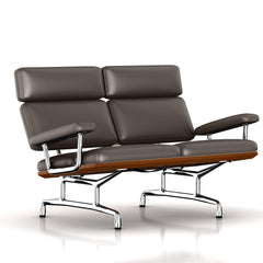 Eames 2-Seat Sofa by Herman Miller Sofa herman miller Walnut Fudge Dream Cow Leather + $1781.00
