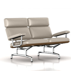 Eames 2-Seat Sofa by Herman Miller Sofa herman miller Teak + $650.00 Gray Suit Dream Cow Leather + $1781.00