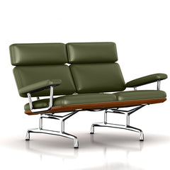 Eames 2-Seat Sofa by Herman Miller Sofa herman miller Walnut Olive Leather