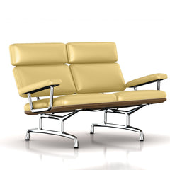 Eames 2-Seat Sofa by Herman Miller Sofa herman miller Teak + $650.00 Chamois Dream Cow Leather + $1781.00