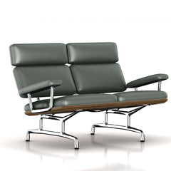 Eames 2-Seat Sofa by Herman Miller Sofa herman miller Teak + $650.00 Deep Green Dream Cow Leather + $1781.00