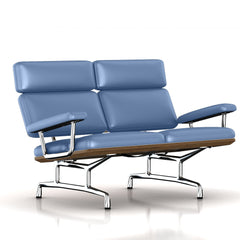 Eames 2-Seat Sofa by Herman Miller Sofa herman miller Teak + $650.00 Liberty Blue Dream Cow Leather + $1781.00