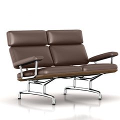 Eames 2-Seat Sofa by Herman Miller Sofa herman miller Teak + $650.00 Brownie Dream Cow Leather + $1781.00