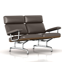 Eames 2-Seat Sofa by Herman Miller Sofa herman miller Teak + $650.00 Fudge Dream Cow Leather + $1781.00