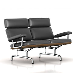 Eames 2-Seat Sofa by Herman Miller Sofa herman miller Teak + $650.00 Black Dream Cow Leather + $1781.00