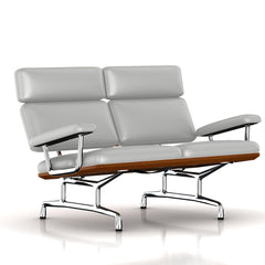 Eames 2-Seat Sofa by Herman Miller Sofa herman miller Walnut Silver Lining Metallic Leather + $1781.00