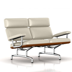 Eames 2-Seat Sofa by Herman Miller Sofa herman miller Walnut Milky Way Metallic Leather + $1781.00