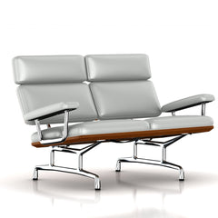 Eames 2-Seat Sofa by Herman Miller Sofa herman miller Walnut Winter Sky Metallic Leather + $1781.00