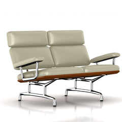Eames 2-Seat Sofa by Herman Miller Sofa herman miller Walnut Smog Metallic Leather + $1781.00