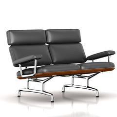 Eames 2-Seat Sofa by Herman Miller Sofa herman miller Walnut Graphite Leather