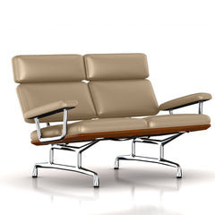 Eames 2-Seat Sofa by Herman Miller Sofa herman miller Walnut London Fog Metallic Leather + $1781.00