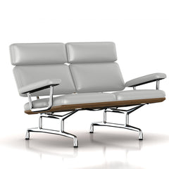Eames 2-Seat Sofa by Herman Miller Sofa herman miller Teak + $650.00 Silver Lining Metallic Leather + $1781.00