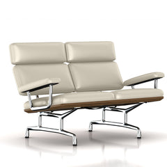 Eames 2-Seat Sofa by Herman Miller Sofa herman miller Teak + $650.00 Milky Way Metallic Leather + $1781.00