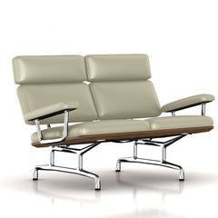 Eames 2-Seat Sofa by Herman Miller Sofa herman miller Teak + $650.00 Smog Metallic Leather + $1781.00