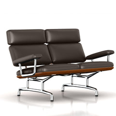 Eames 2-Seat Sofa by Herman Miller Sofa herman miller Walnut Mink Leather