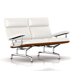 Eames 2-Seat Sofa by Herman Miller Sofa herman miller Walnut Ivory Leather