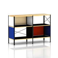 Eames ESU201 by Herman Miller storage herman miller Vibrant Colors Black Frame + $69.00