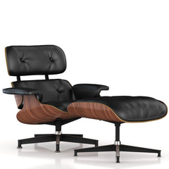 Eames Lounge Chair and Ottoman lounge chair herman miller Walnut Veneer Black Leather