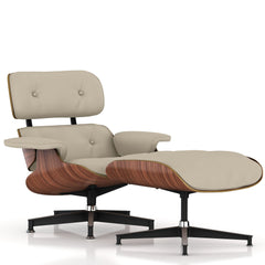 Eames Lounge Chair and Ottoman lounge chair herman miller Walnut Veneer Stone MCL Leather + $200.00