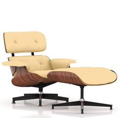 Eames Lounge Chair and Ottoman lounge chair herman miller Walnut Veneer Almond MCL Leather + $200.00