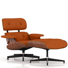 Eames Lounge Chair and Ottoman lounge chair herman miller Walnut Veneer Luggage MCL Leather + $200.00