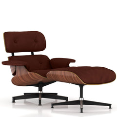 Eames Lounge Chair and Ottoman lounge chair herman miller Walnut Veneer Brown MCL Leather + $200.00