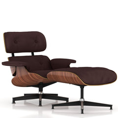 Eames Lounge Chair and Ottoman lounge chair herman miller Walnut Veneer Espresso MCL Leather + $200.00