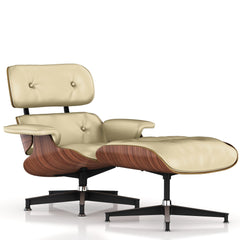 Eames Lounge Chair and Ottoman lounge chair herman miller Walnut Veneer Wheat Leather