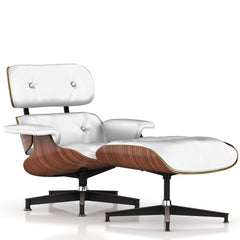 Eames Lounge Chair and Ottoman lounge chair herman miller Walnut Veneer Fresh Snow Dream Cow Leather +$900.00