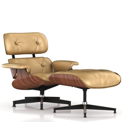 Eames Lounge Chair and Ottoman lounge chair herman miller Walnut Veneer Honey Leather