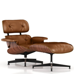Eames Lounge Chair and Ottoman lounge chair herman miller Walnut Veneer Copper Leather