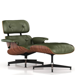Eames Lounge Chair and Ottoman lounge chair herman miller Walnut Veneer Olive Leather