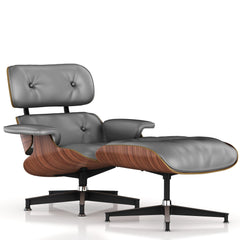 Eames Lounge Chair and Ottoman lounge chair herman miller Walnut Veneer Smoke Leather