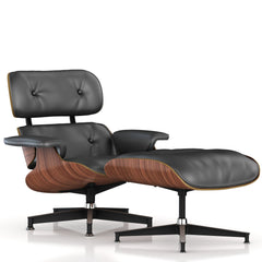 Eames Lounge Chair and Ottoman lounge chair herman miller Walnut Veneer Graphite Leather