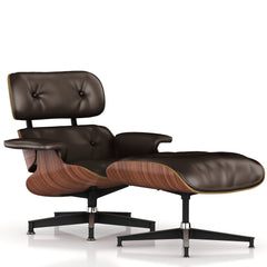 Eames Lounge Chair and Ottoman lounge chair herman miller Walnut Veneer Mink Leather