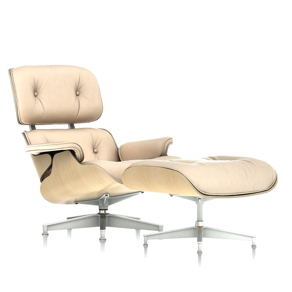 Eames Chair With Ottoman Lounge Chair And Ottoman In White Ash