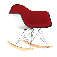 Eames Molded Plastic Armchair Rocker Base Upholstered rocking chairs herman miller