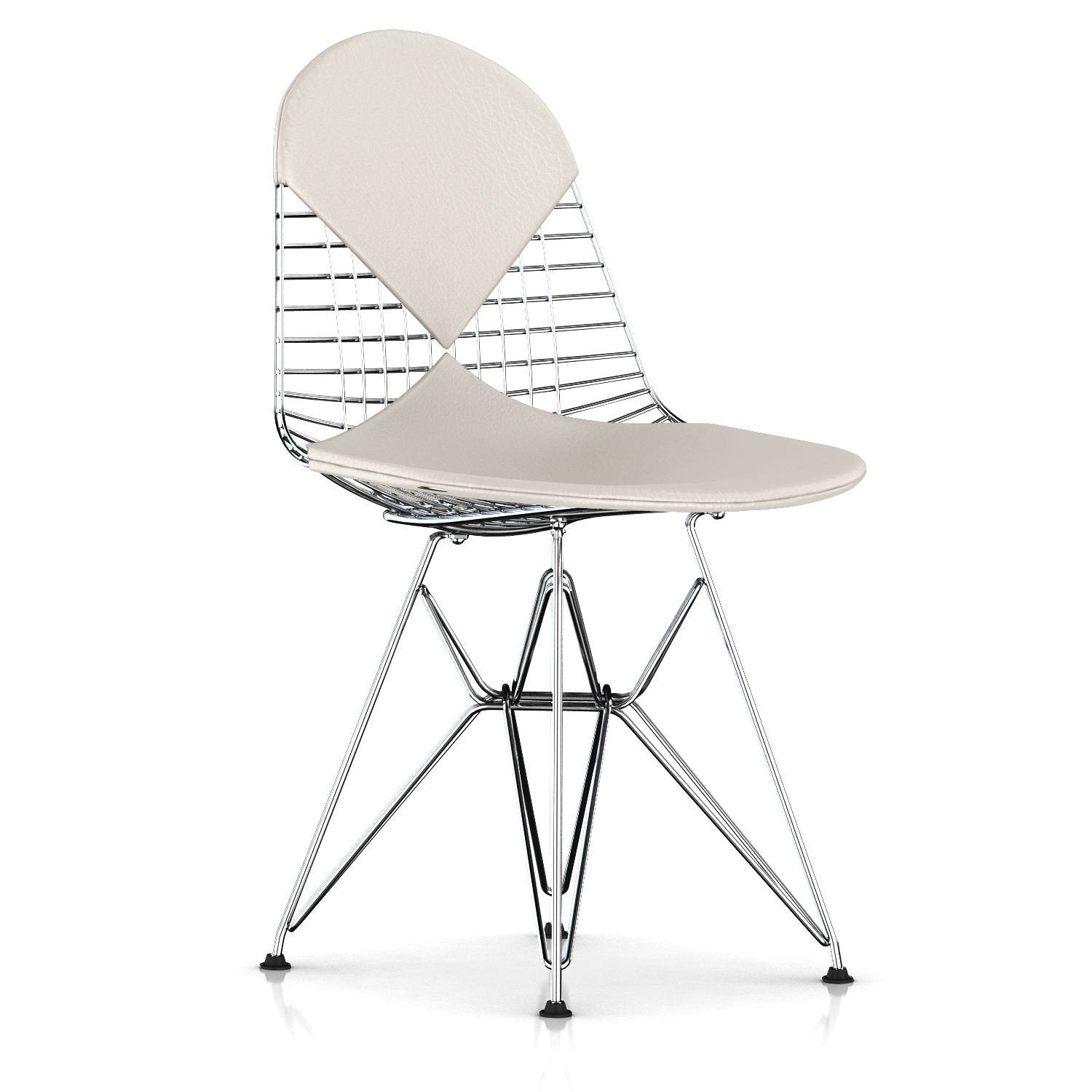 Eames Wire Chair Leather Seat with Leather Back