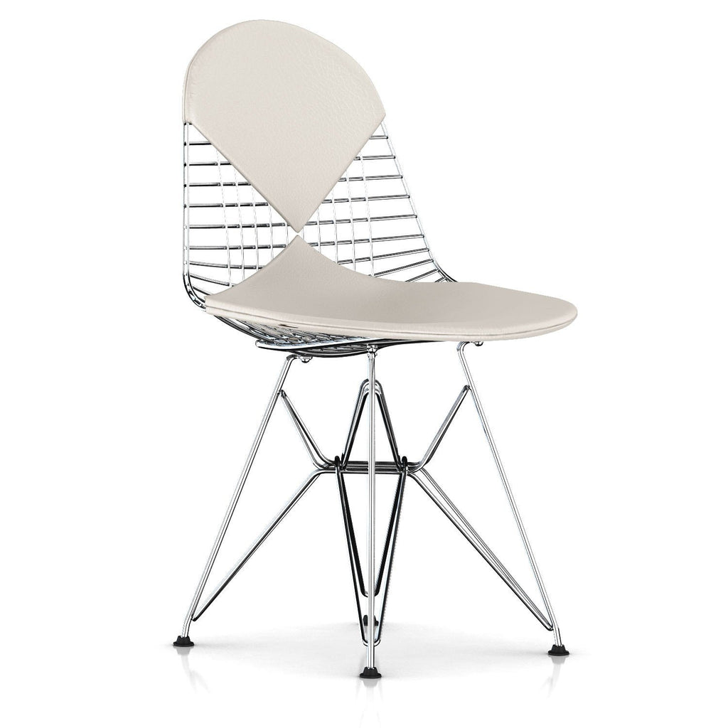 Eames wire chair dimensions - Eames Wire Chair Leather Seat With Leather Back