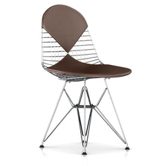 Eames Wire Chair-Leather Seat with Leather Back